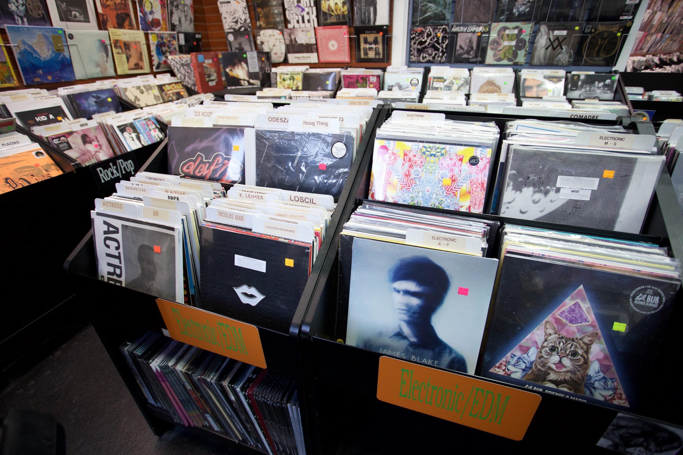 Boutique de disques vinyles